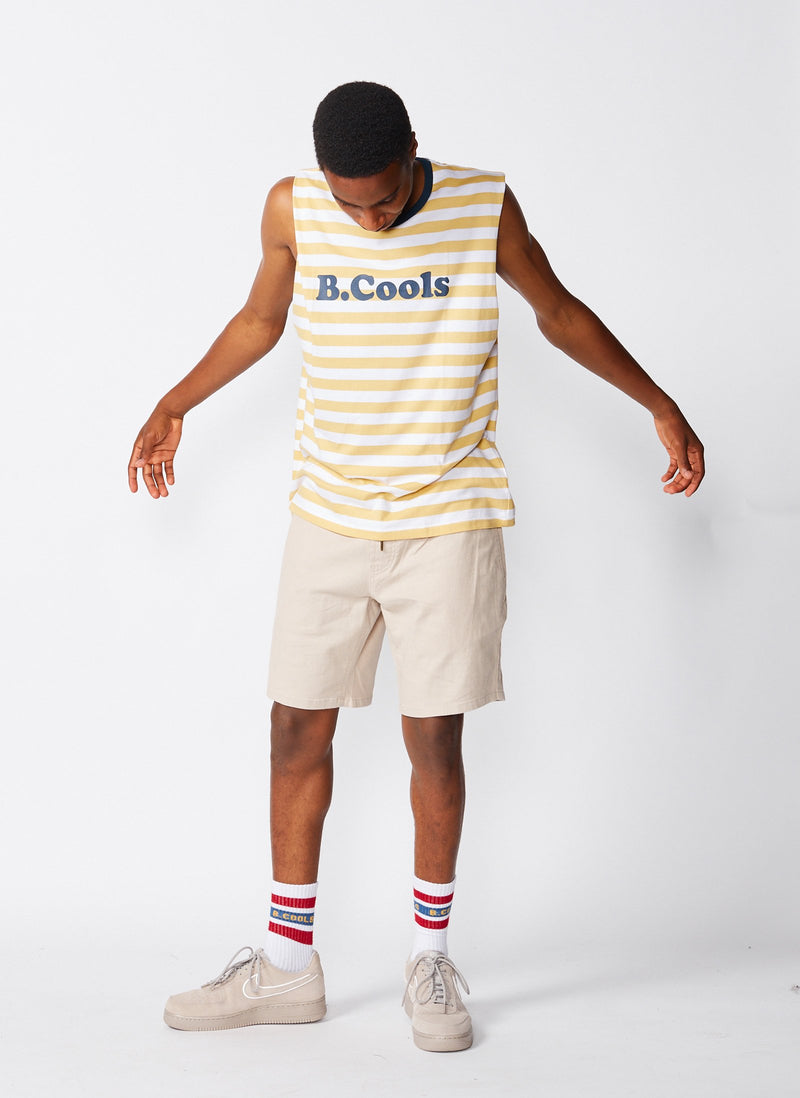 B.Cools Retro Muscle White/Mustard