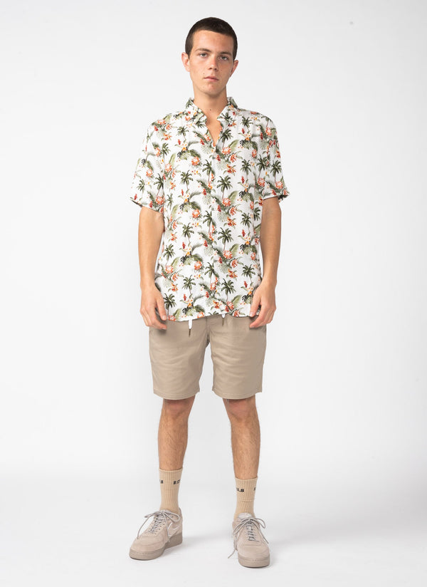 Holiday Short Sleeve Shirt White Hawaii