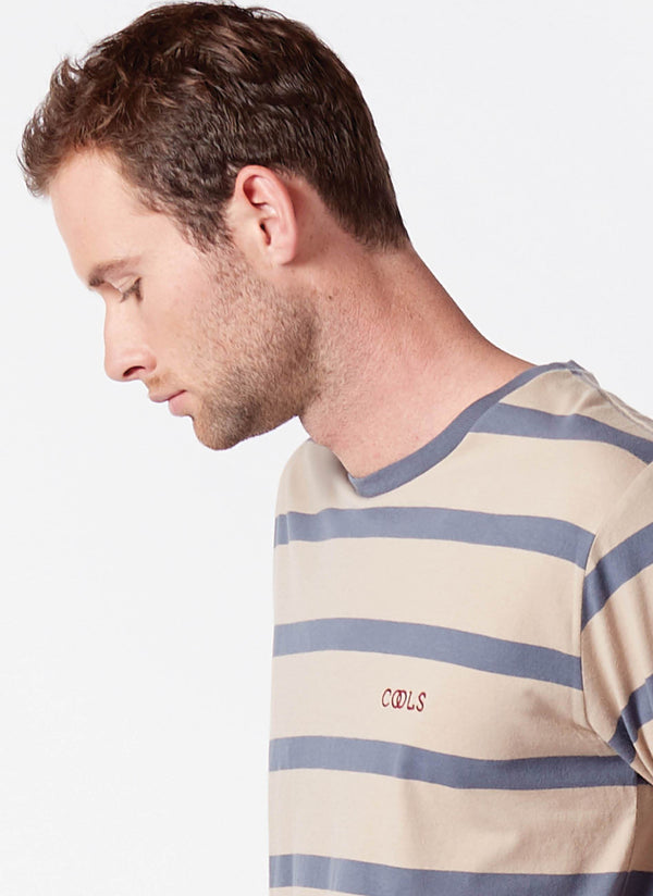 Cools Olympic Tee Beige Stripe