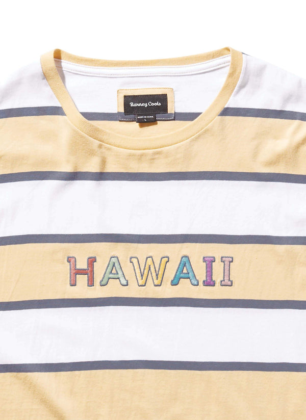 Hawaii Tee Mustard Stripe