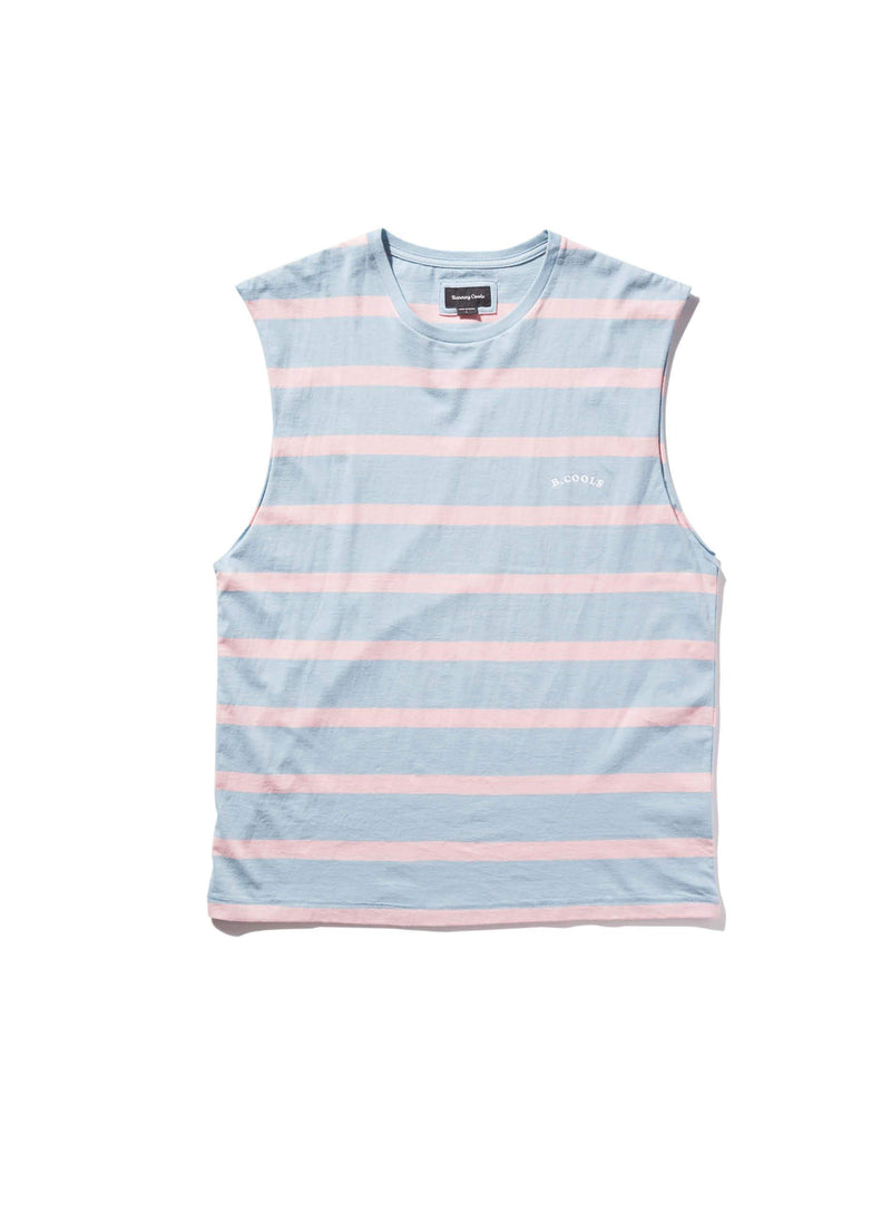 B.Nostalgic Embro Muscle Tee Blue Stripe