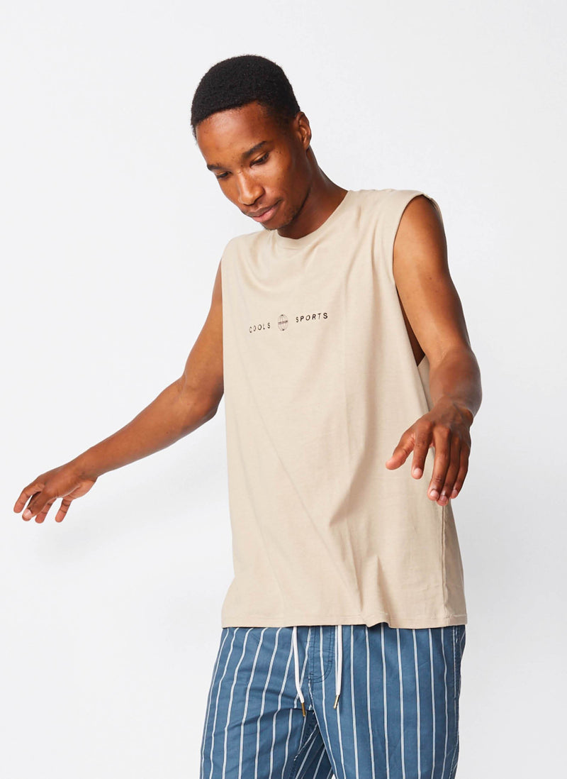 Cools Sports Muscle Tee Beige