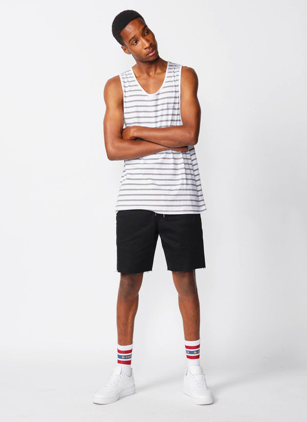 Summer Tank White Stripe