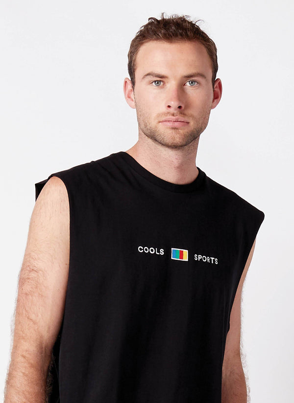 Cools Sports Muscle Tee Black