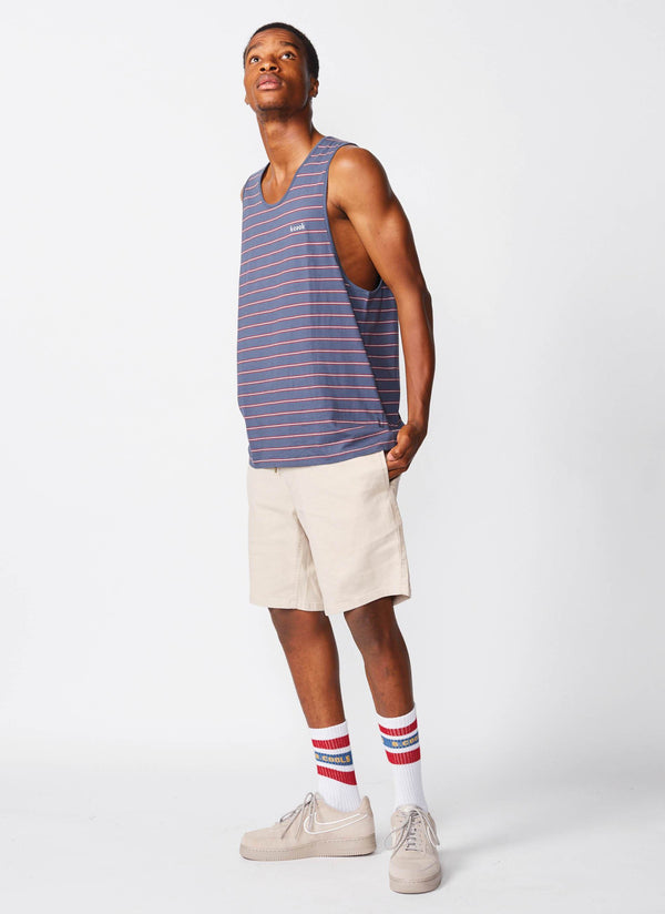 Summer Tank Navy Stripe