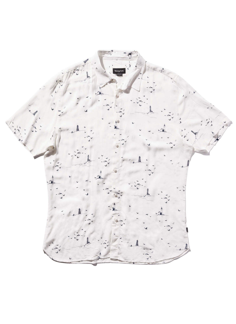 Holiday Short Sleeve Shirt Seaside White