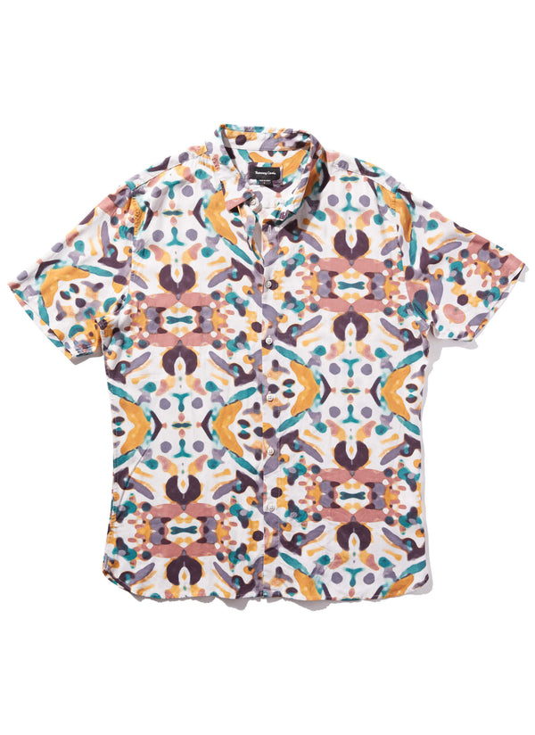 Holiday Short Sleeve Shirt White Kaleidoscope