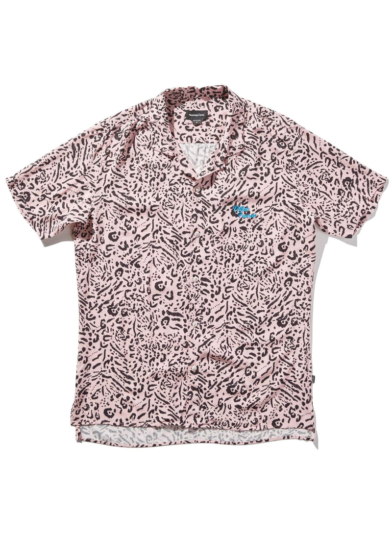 Holiday Camp-Collar Shirt Pink Leopard