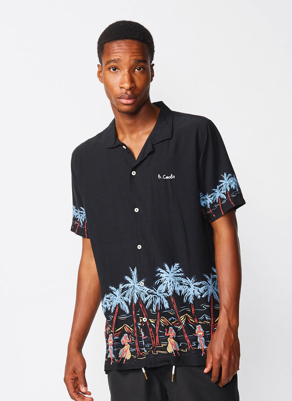 Holiday Camp-Collar Shirt Island Black