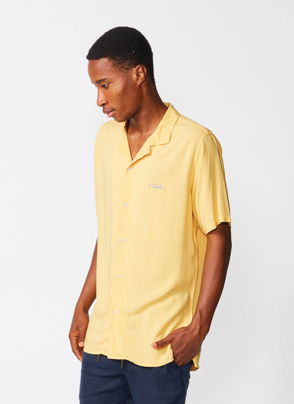 Holiday Camp-Collar Shirt Mustard