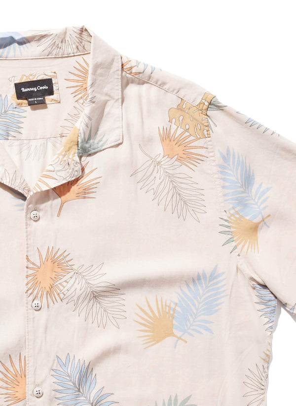 Camp Collar Short Sleeve White Fern