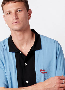 Holiday Camp-Collar Shirt Bowling Blue