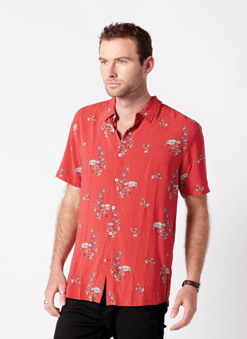 Holiday Short Sleeve Shirt Red Vacation