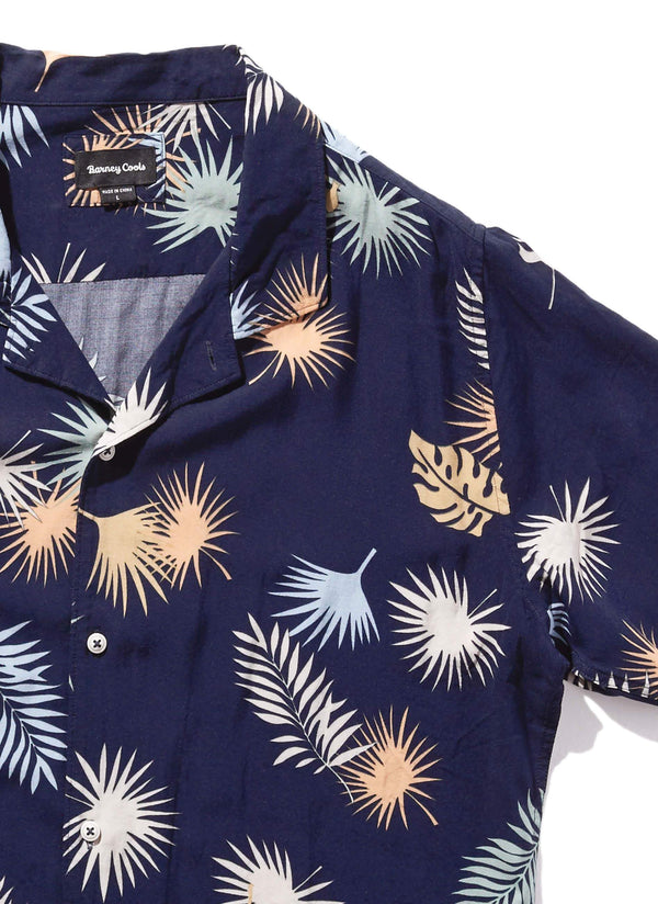 Camp Collar Short Sleeve Navy Fern
