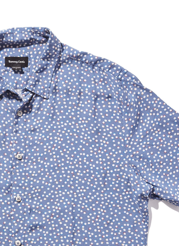 Holiday Short Sleeve Shirt Polka Party