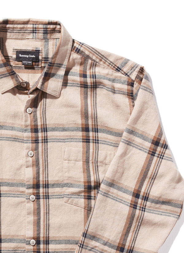 Cabin Long Sleeve Shirt Beige Plaid