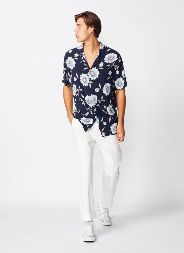Holiday Short Sleeve Shirt Luxe Navy