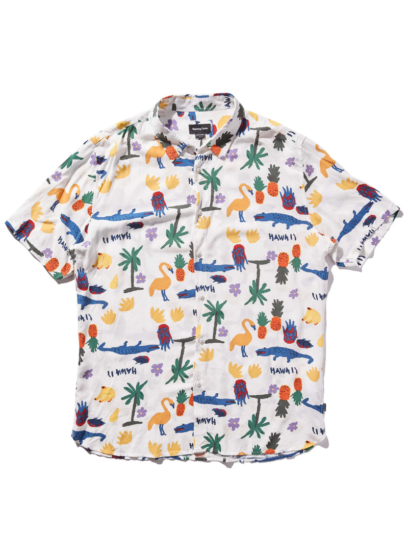 Holiday Short Sleeve Shirt White Summer
