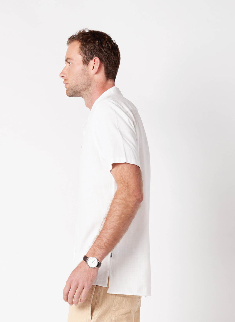 Holiday Camp-Collar Shirt White
