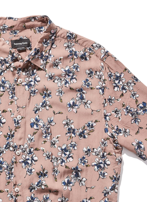 Holiday Short Sleeve Shirt Beige Floral