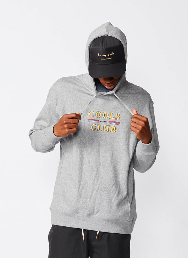 Cools Club Hood Sweatshirt Grey Melange