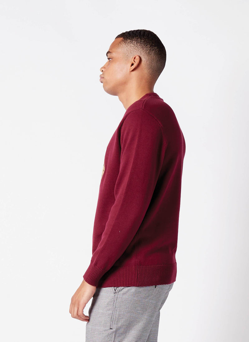 Techno Tiger Knit Dull Red