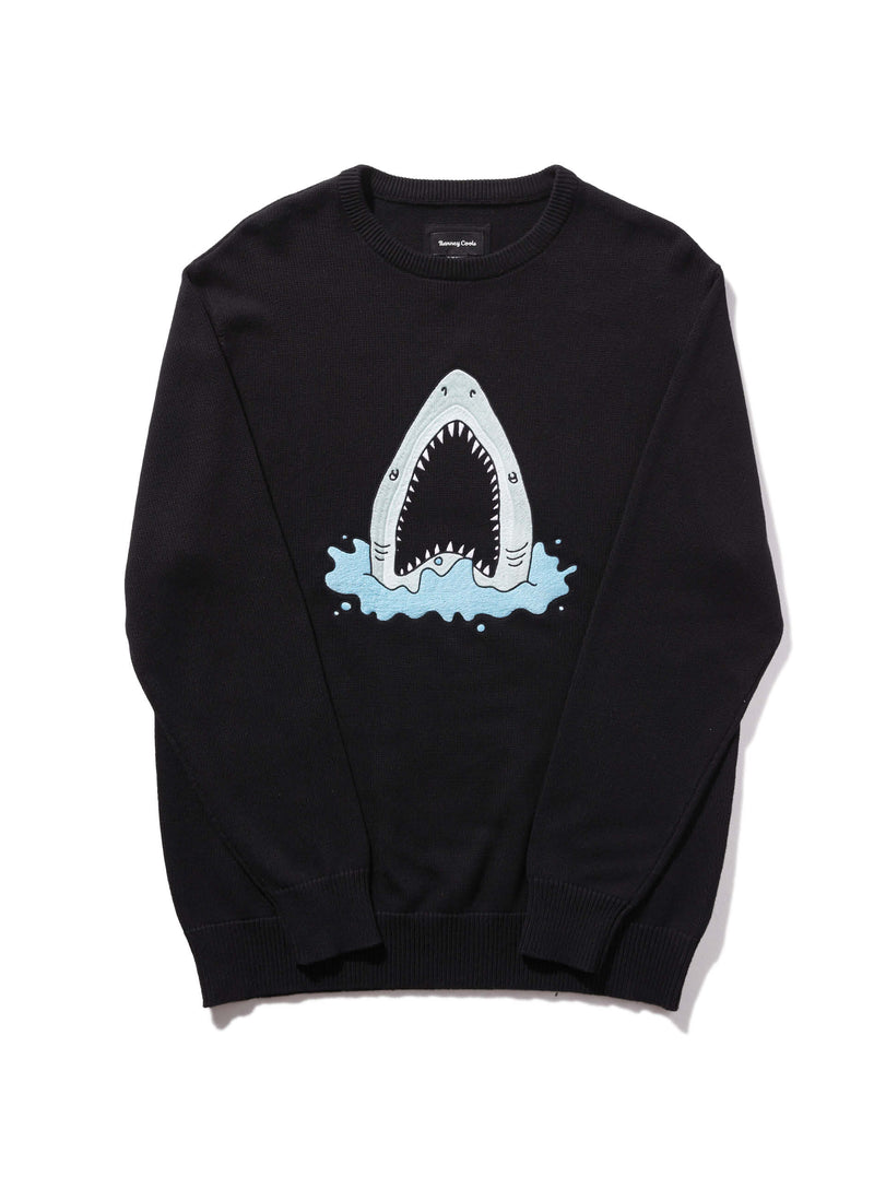 Shark Embro Knit Black
