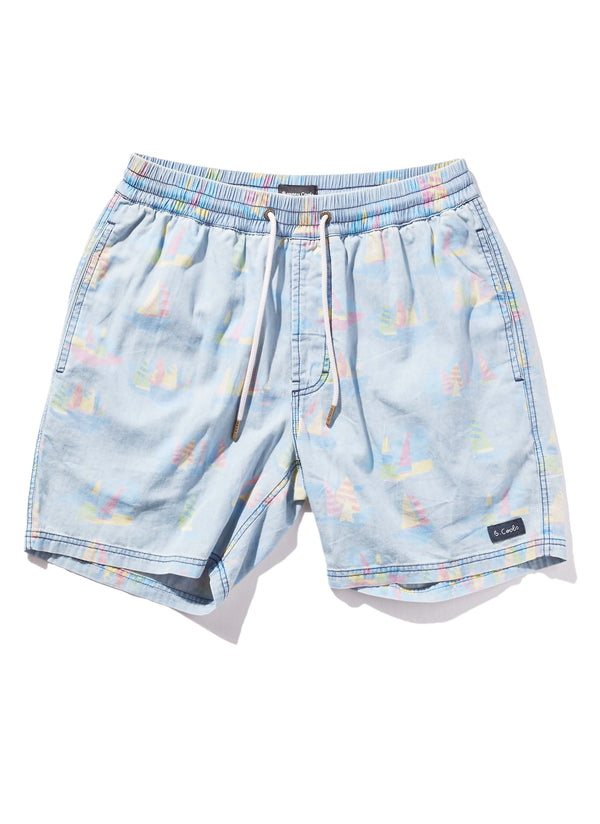 "Poolside 17"" Walk Short Yacht Club Indigo"