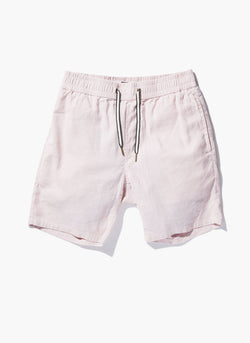 "B.Relaxed Elastic 18"" Short Faded Pink Linen"