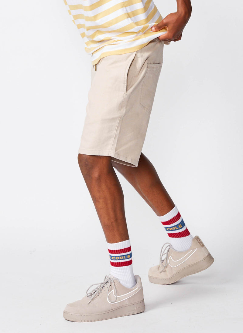 B.Relaxed Walk Short Stone Linen