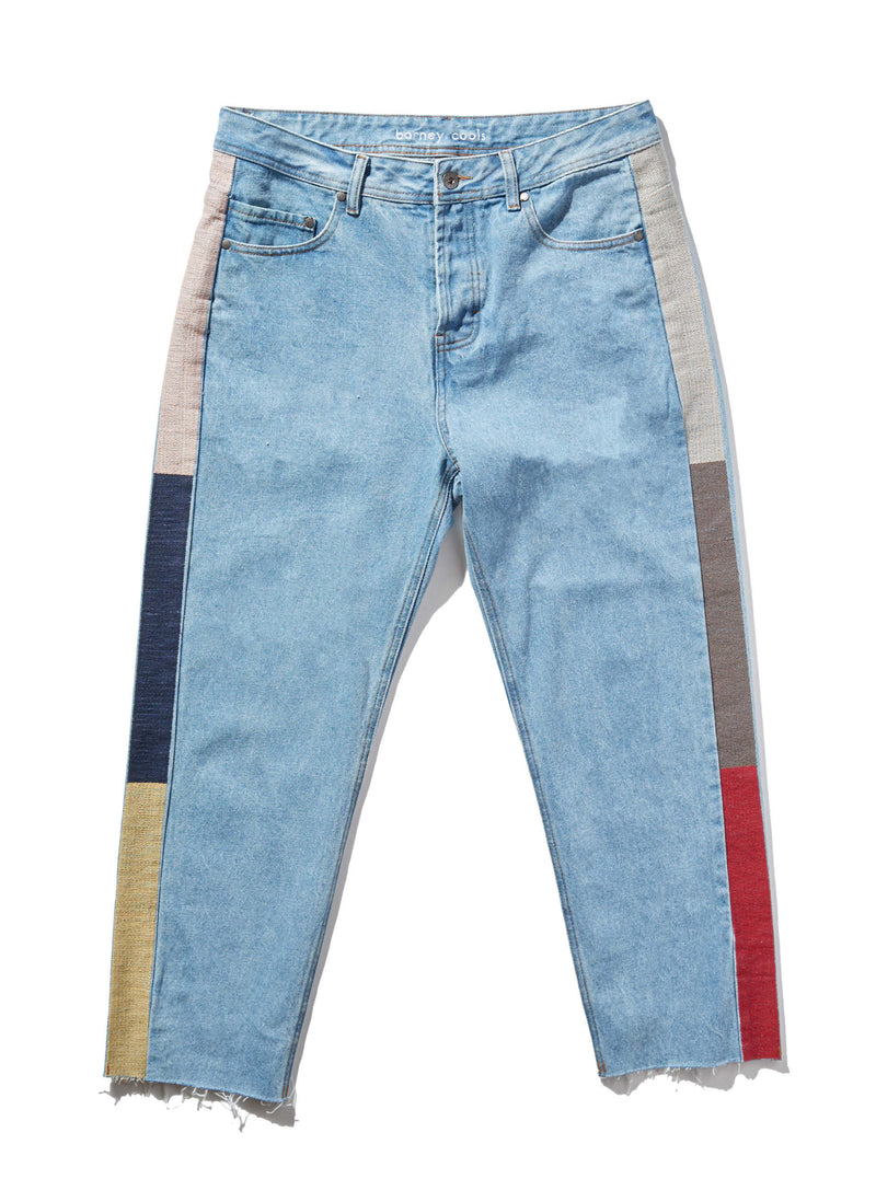 B.Relaxed Jean Stonewash Trim (Crop)