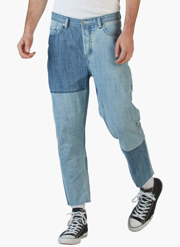 B.Relaxed Crop Jean (Relaxed Fit) 90's Panel Indigo