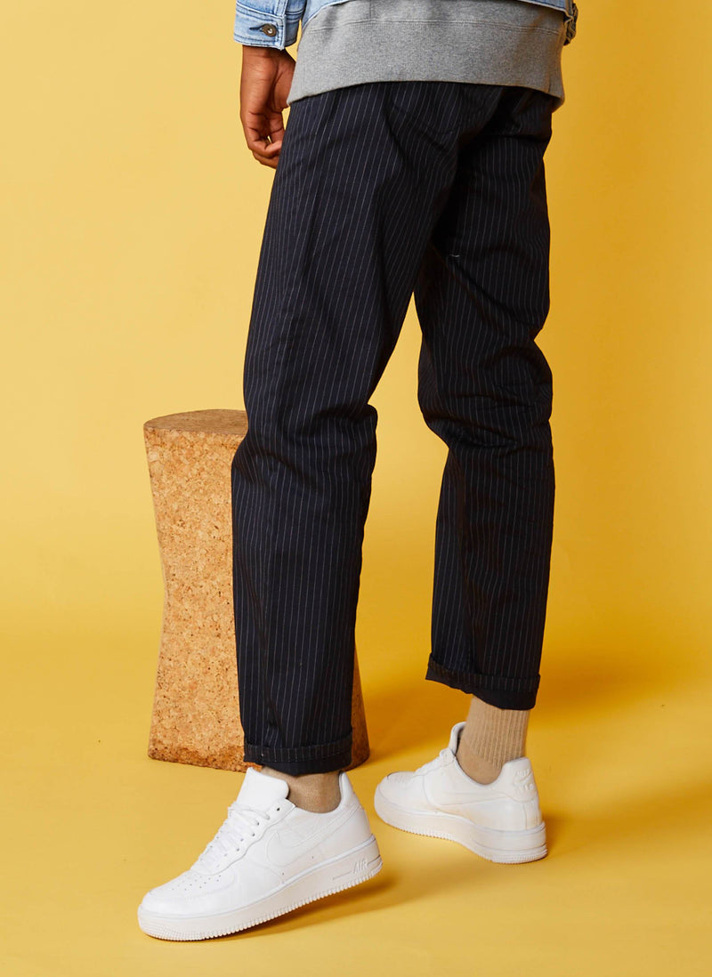 B.Relaxed Pant Navy Stripe