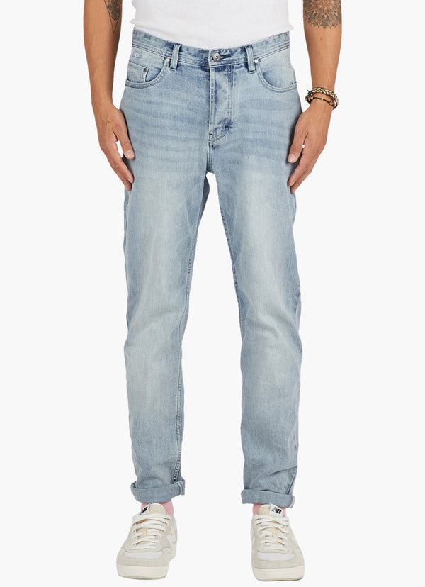 B.Relaxed Jean (Straight Fit) Iron Wash Indigo