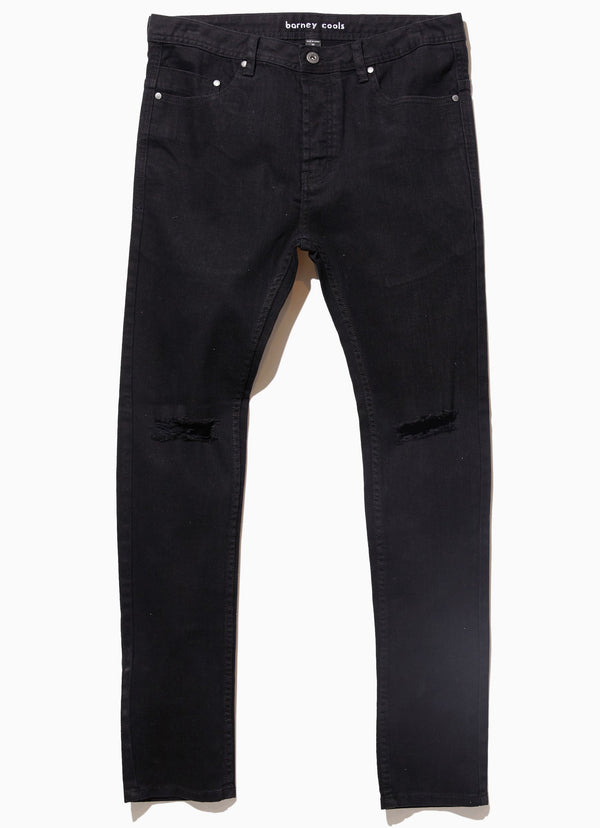 B.Slim Jean (Slim Fit) Rocker Black Rip
