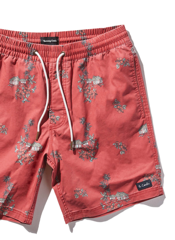 "Amphibious 17"" Swim Short Red Vacation"