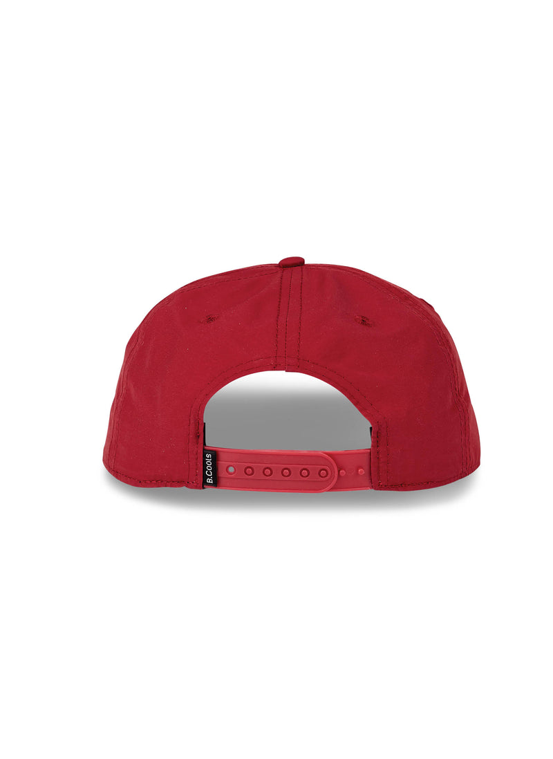 B.Cools Retro Nylon 5-Panel Dull Red