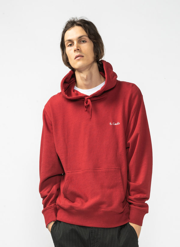 B.Cools Embro Hood Sweatshirt Dull Red