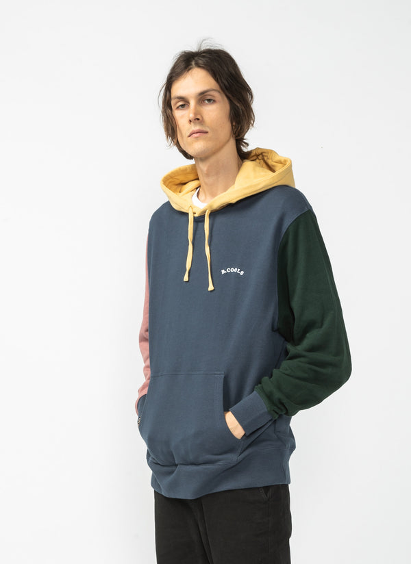 B.Quick Hood Sweatshirt Colour Block