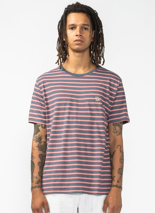 B.Schooled Tee Navy Stripe