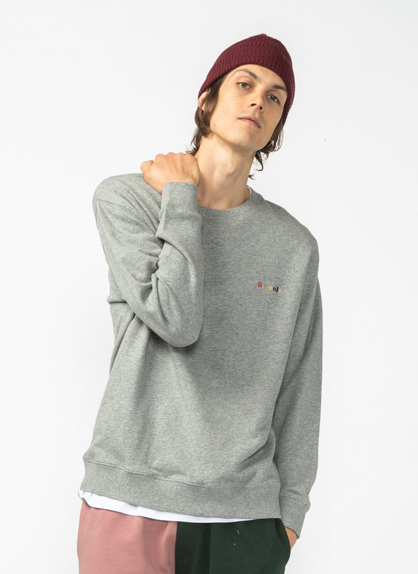 B.Cools Retro Crew Sweatshirt Grey Marle