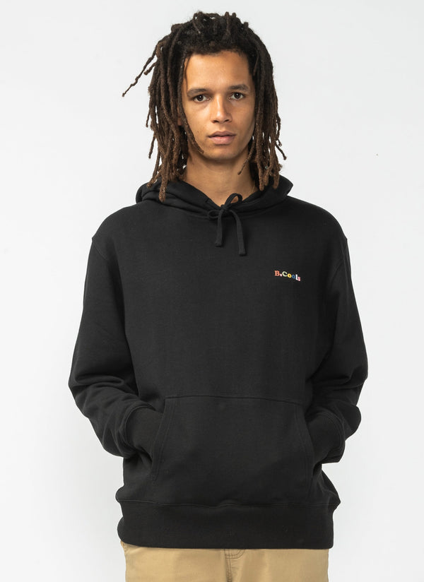 B.Cools Retro Hood Sweatshirt Black