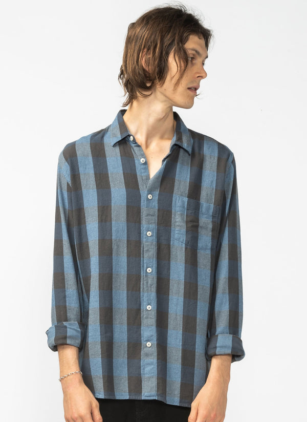 Cabin Long Sleeve Shirt Black Plaid