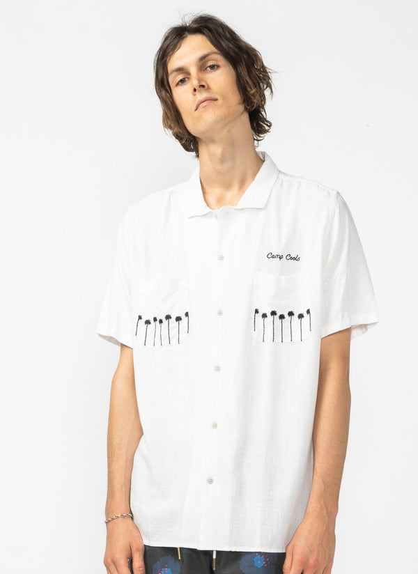 Holiday Camp-Collar Shirt Club White