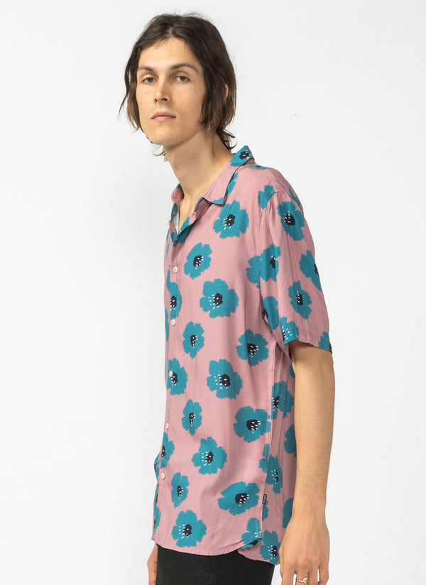 Holiday Short Sleeve Shirt Rose Hibiscus