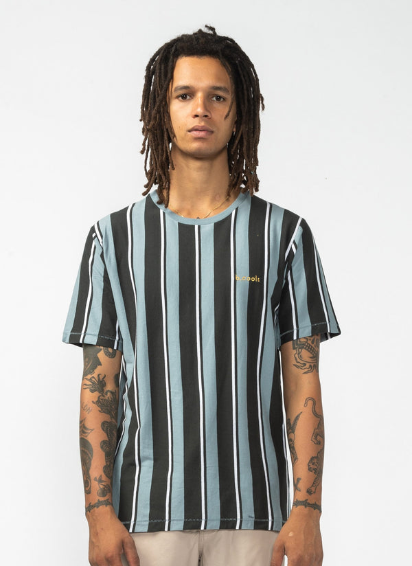 Stripe Tee Black Vertical Stripe