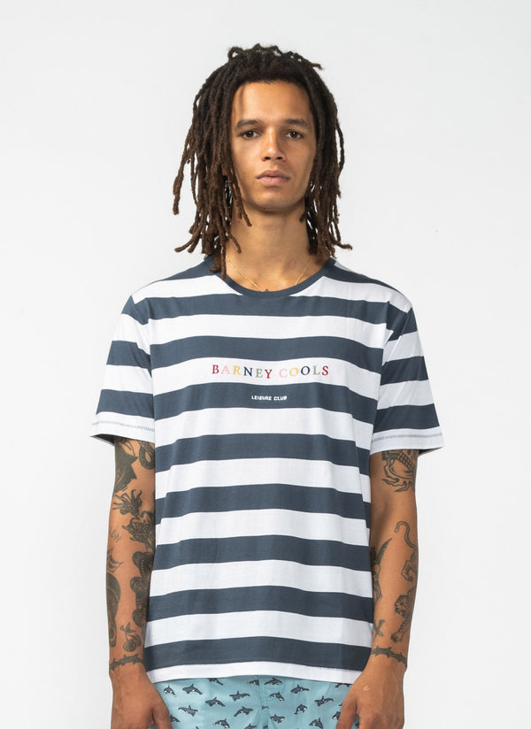 Rainbow BC Tee Navy Stripe