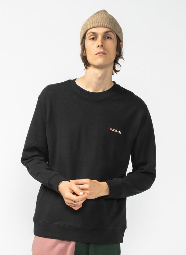 B.Cools Retro Crew Sweatshirt Black