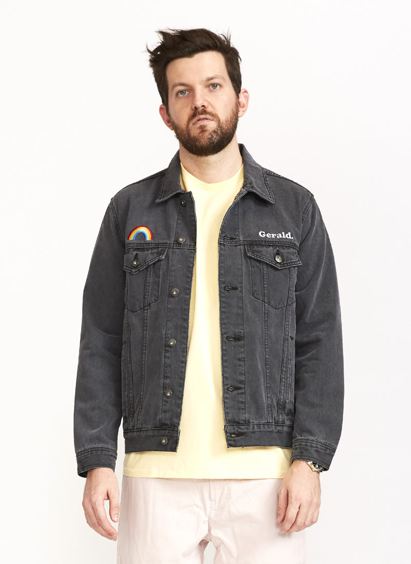 Denim Jacket Black Embro
