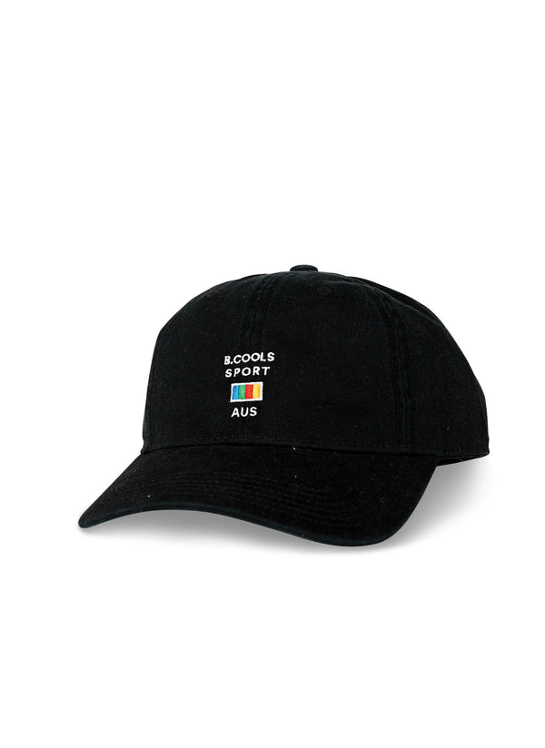 Aus Sports Curve Brim Black